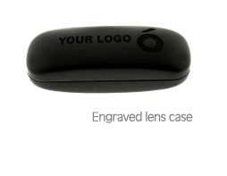 Engraved lens case
